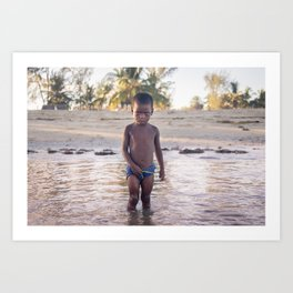Morombe boy, Madagascar. Art Print