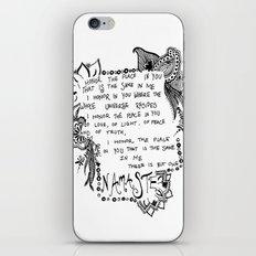 Namaste Doodle iPhone & iPod Skin