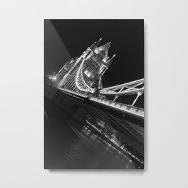 Tower Bridge at Night Metal Print
