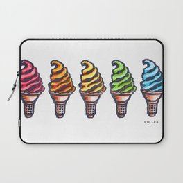 Rainbow Soft Serve Laptop Sleeve