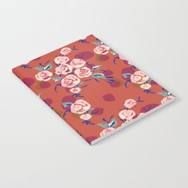 Painty Roses Burnt Orange Notebook