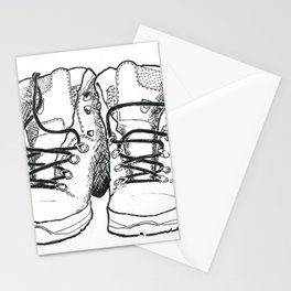 Walking Boots Stationery Cards
