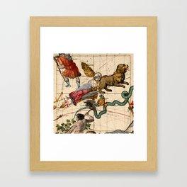 Constellation Chart 1693d Framed Art Print