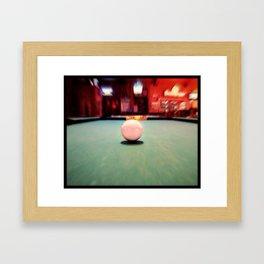 Cue Ball Framed Art Print