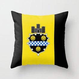 flag of pittsburg Throw Pillow