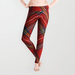 Red Plaid Tartan Leggings