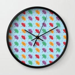 Colorful Rain Umbrella - Pattern Wall Clock