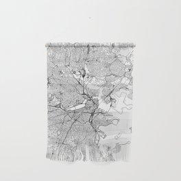 Boston White Map Wall Hanging