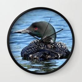 Sleepy time baby loon Wall Clock