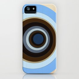 blue and brown circles iPhone Case