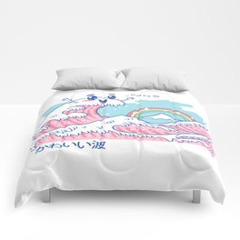 The Great Kawaii Wave Comforters