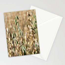 one green oat Stationery Cards