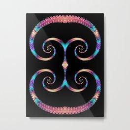 Rainbow Spirals Metal Print
