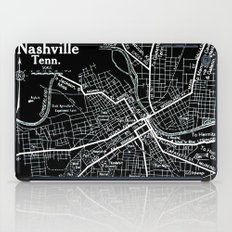 Vintage Nashville Black iPad Case