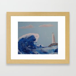 Winter Waves Framed Art Print