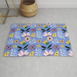 Beautiful Cut Out Flowers X Rug