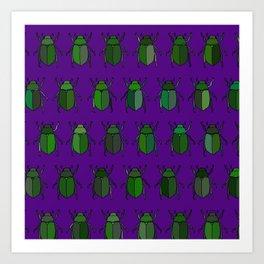 Beetle Print - Purple Art Print