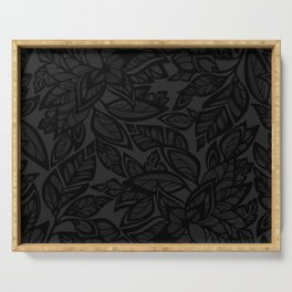 Let Love Grow - black/charcoal Serving Tray