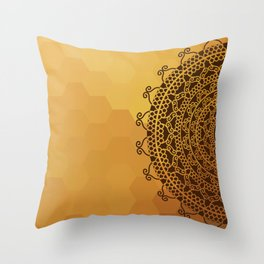 Ethnic Mandala Throw Pillow