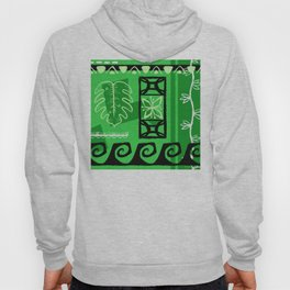 Hawaiian Pattern #1 - green! Hoody