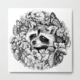"""Summer raccoon. From the series """"Seasons"""" Metal Print"""
