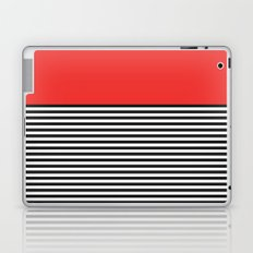 STRIPE COLORBLOCK {POPPY RED} Laptop & iPad Skin