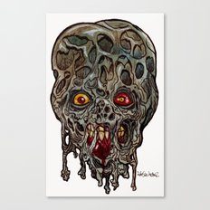 Heads of the Living Dead  Zombies: Layers Zombie Canvas Print