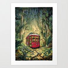 Jungle Tram Art Print