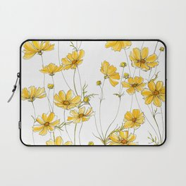 Yellow Cosmos Flowers Laptop Sleeve