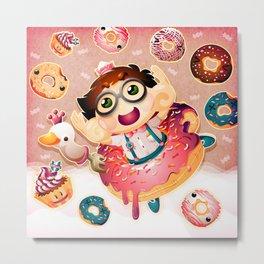 Donuts and Swan Lake Metal Print