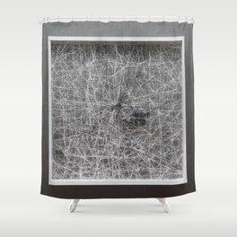 Black Stone Shower Curtain