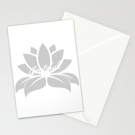 Grateful Lotus Stationery Cards