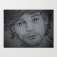 louis tomlinson Canvas Prints featuring Louis Tomlinson by Alex Rosalez