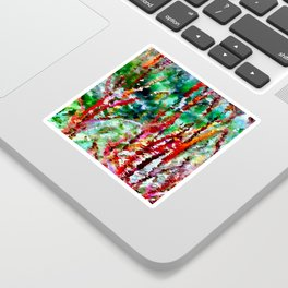 Autumn Grasses Abstract Sticker