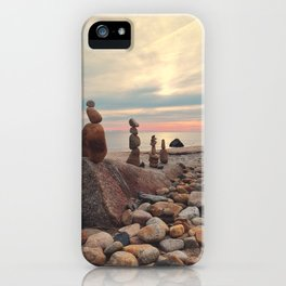 Rock Totems iPhone Case