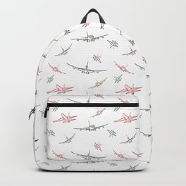 Colorful Plane Sketches Backpack