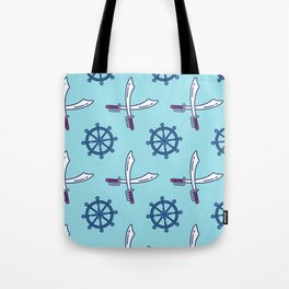Pirates Elements Pattern  Tote Bag