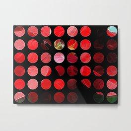 Mottled Red Poinsettia 2 Art Circles 1 Metal Print