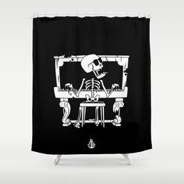 Piano ray Shower Curtain