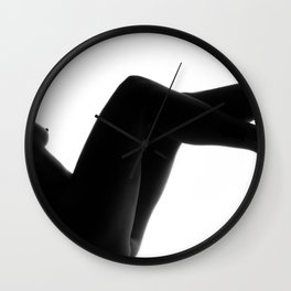 Silhouette Nude Wall Clock