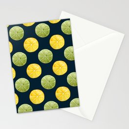 Watercolor Lemon Lime Pattern Stationery Cards