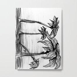 Wilted Metal Print