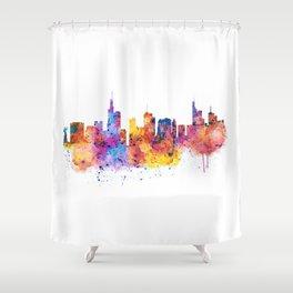 Frankfurt Skyline Shower Curtain