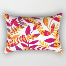 Watercolor branches - purple and orange Rectangular Pillow