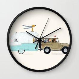 camping trip Wall Clock