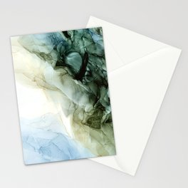 Land and Sky Abstract Landscape Painting Stationery Cards