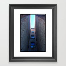 Coming Home Through the Back Door Framed Art Print