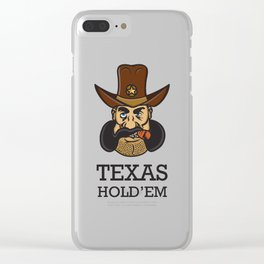 Texas hold 'em Clear iPhone Case