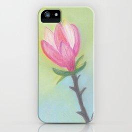 Bright Magnolia Bloom iPhone Case