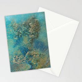 Philip Bowman Blue And Gold Modern Abstract Art Painting Stationery Cards
